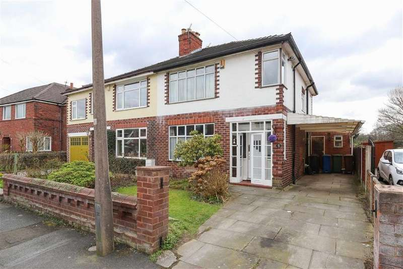 3 Bedrooms Semi Detached House for sale in Burnside Road, Gatley, Cheadle