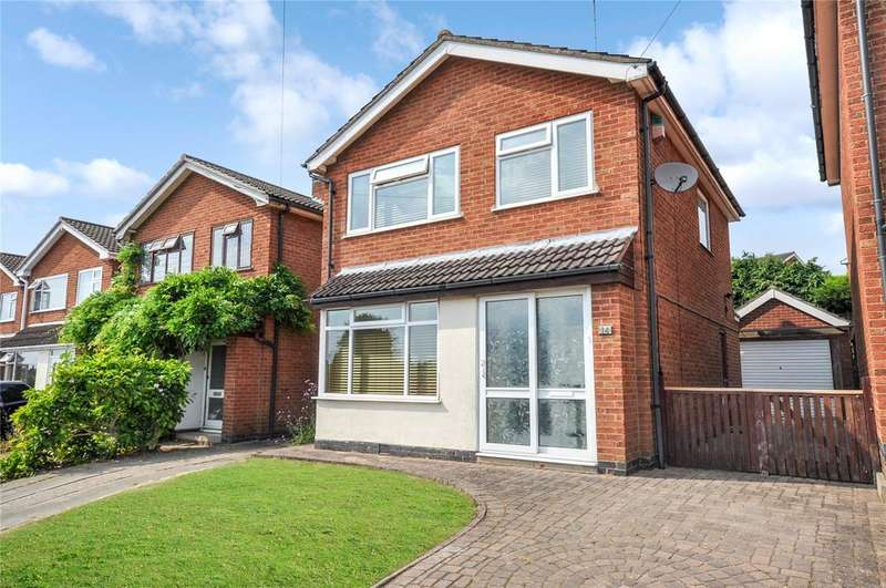 3 Bedrooms Detached House for sale in Witham Close, Melton Mowbray, Leicestershire