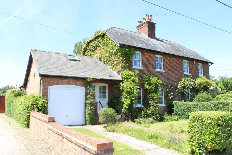 3 Bedrooms Semi Detached House for sale in Hornhill Cottages, Sanham Green, Hungerford RG17