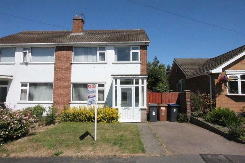 3 Bedrooms Semi Detached House for sale in Middlefield Close, Hinckley
