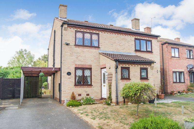 2 Bedrooms Semi Detached House for sale in Blackburn Close, Grantham