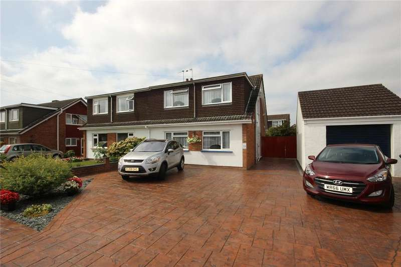 4 Bedrooms Semi Detached House for sale in Bourton Close, Stoke Lodge, Bristol, BS34