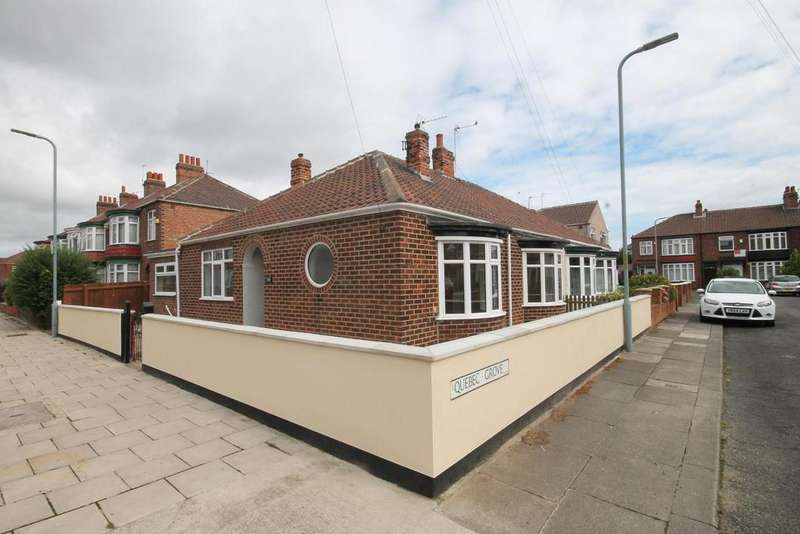 2 Bedrooms Semi Detached Bungalow for sale in Quebec Grove, Middlesbrough