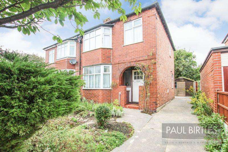 3 Bedrooms Semi Detached House for sale in Rothiemay Road, Flixton, Manchester