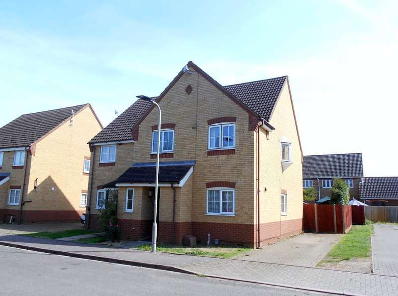 4 Bedrooms Semi Detached House for sale in Barkers Lane, Bedford, Bedfordshire, MK41 9SU