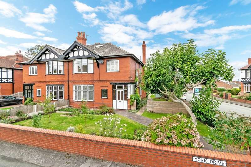4 Bedrooms Semi Detached House for sale in York Drive, Grappenhall, Warrington, Cheshire