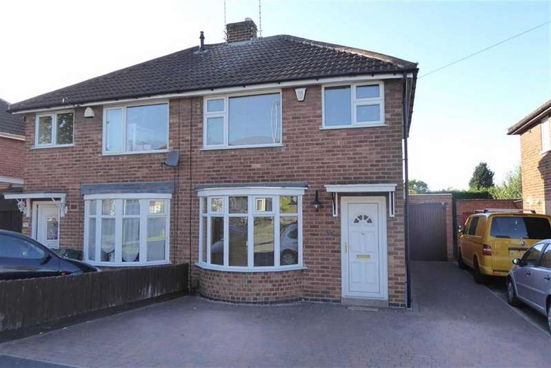 3 Bedrooms Semi Detached House for sale in Ledwell Drive, Glenfield