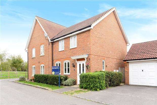 3 Bedrooms Semi Detached House for sale in Chrysanthemum Drive, Shinfield, Reading