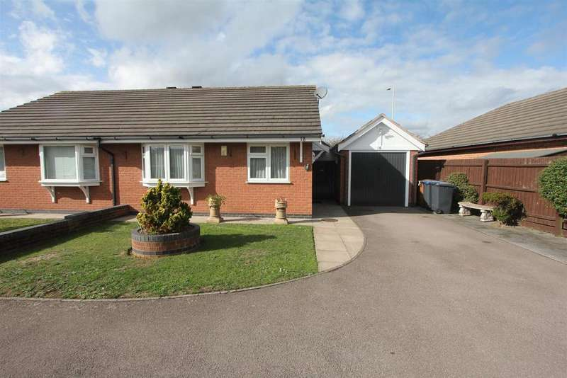 2 Bedrooms Semi Detached Bungalow for sale in Marywell Close, Hinckley