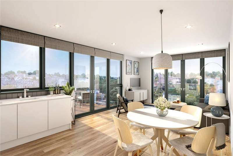2 Bedrooms Penthouse Flat for sale in Apartment 6 New Retort House, Brandon Yard, Lime Kiln Road, Bristol, BS1
