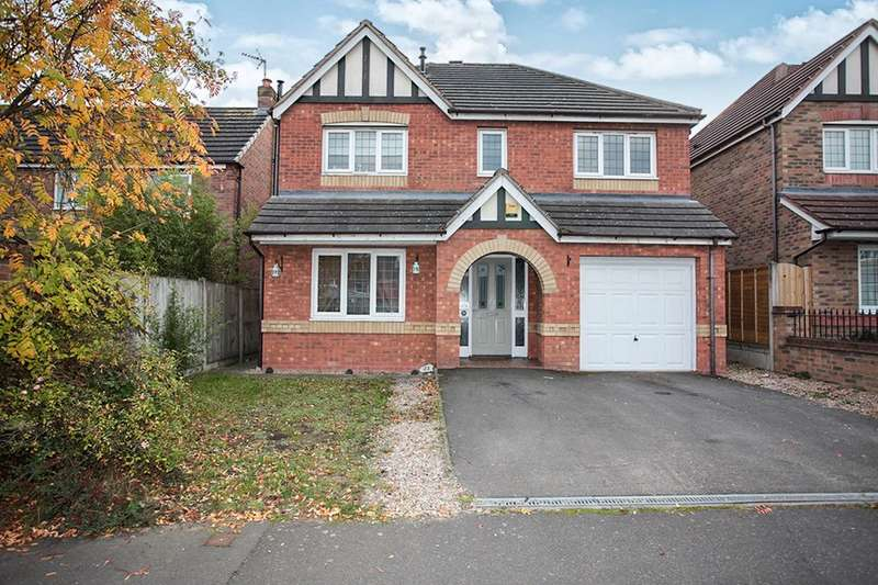 4 Bedrooms Detached House for sale in Hatters Court, Bedworth, CV12