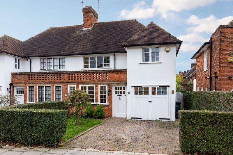 4 Bedrooms Semi Detached House for sale in Hill Rise, Hampstead Garden Suburb, London NW11