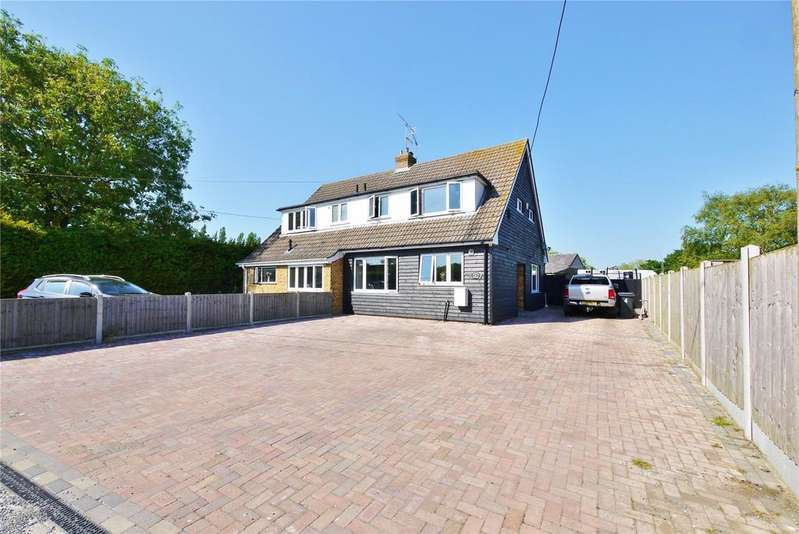 3 Bedrooms Semi Detached House for sale in Ashwells Cottages, Ashwells Road, Pilgrims Hatch, Brentwood, CM15