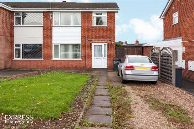 3 Bedrooms Semi Detached House for sale in Barr Crescent, Whitwick, Coalville, Leicestershire