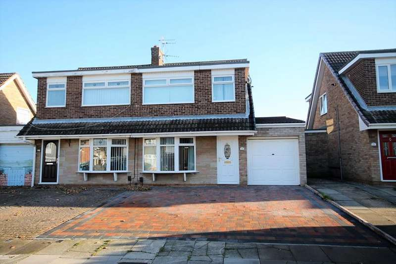 3 Bedrooms Semi Detached House for sale in Knighton Court, Thornaby, Stockton-On-Tees