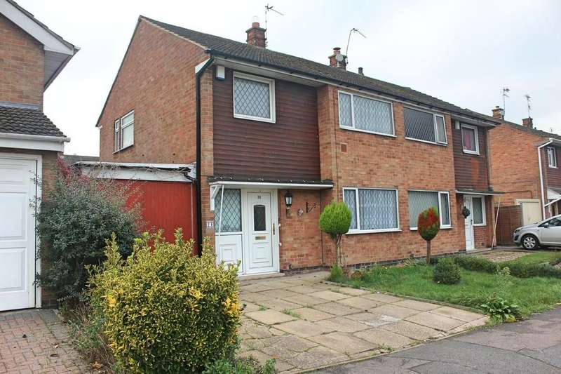3 Bedrooms Semi Detached House for sale in Penzance Avenue, Wigston, Leicester