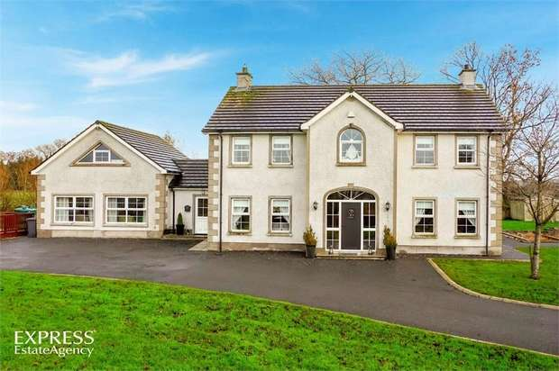 5 Bedrooms Detached House for sale in Tullywest Road, Nutts Corner, Crumlin, County Antrim