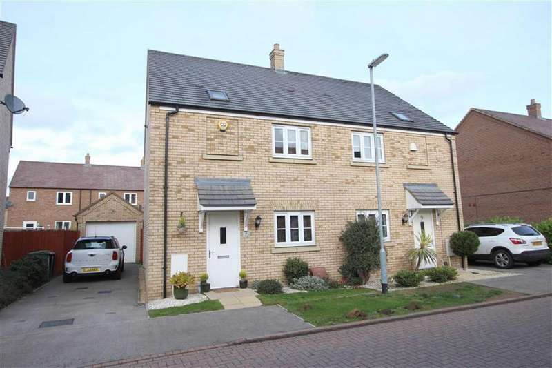 3 Bedrooms Semi Detached House for sale in Linnet Way, Leighton Buzzard