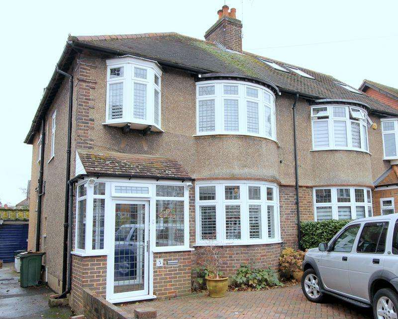 4 Bedrooms Semi Detached House for sale in Wordsworth Drive, Cheam