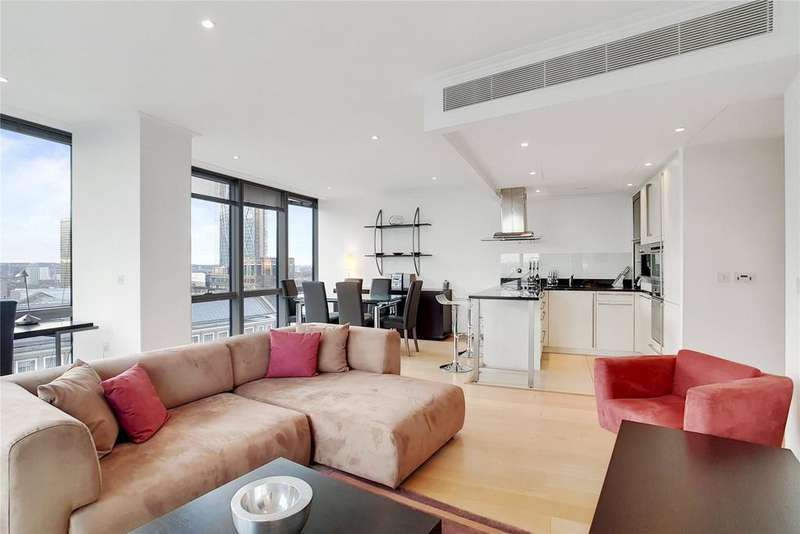 1 Bedroom Flat for sale in One West India Quay, Hertsmere Road, London, E14