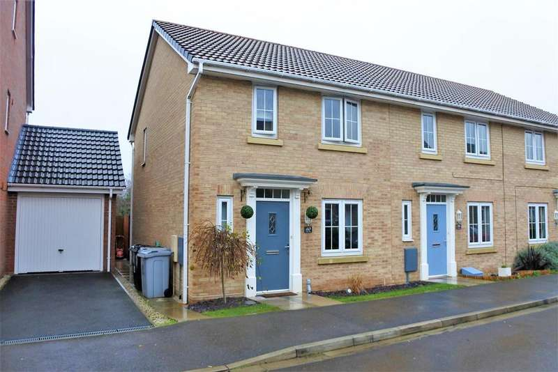 3 Bedrooms End Of Terrace House for sale in A 3 bed home with a Garage on Coles Way, Grantham