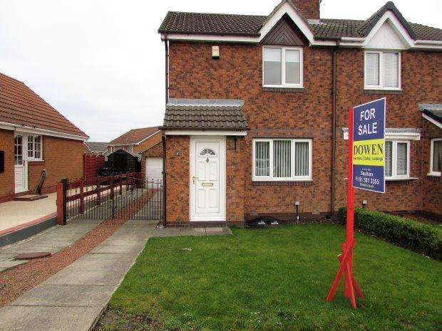 2 Bedrooms Semi Detached House for sale in BOURNEMOUTH DRIVE, SEAHAM, SEAHAM DISTRICT