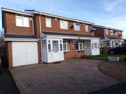 4 Bedrooms Semi Detached House for sale in Hawkswell Drive, Willenhall, West Midlands