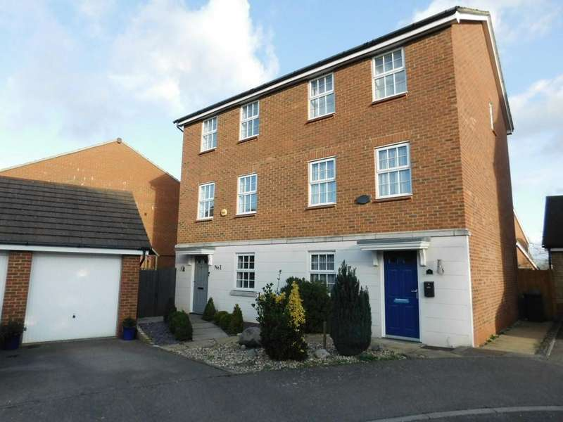 3 Bedrooms Town House for sale in Glossop Way, Church End, Arlesey, Beds SG15 6YG