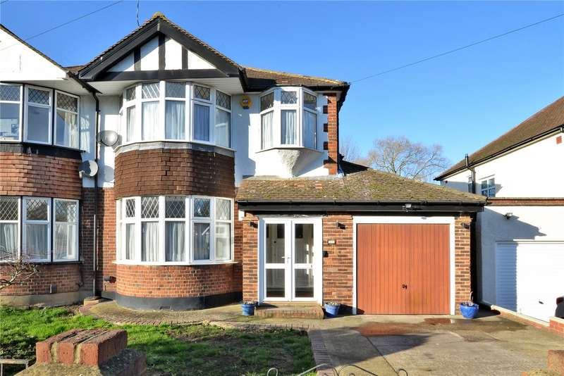 3 Bedrooms Semi Detached House for sale in Thorndon Gardens, Stoneleigh, Surrey, KT19