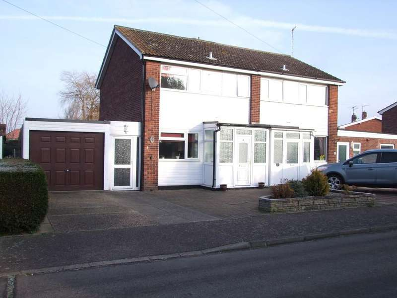 3 Bedrooms Semi Detached House for sale in Andrew Close, Leiston