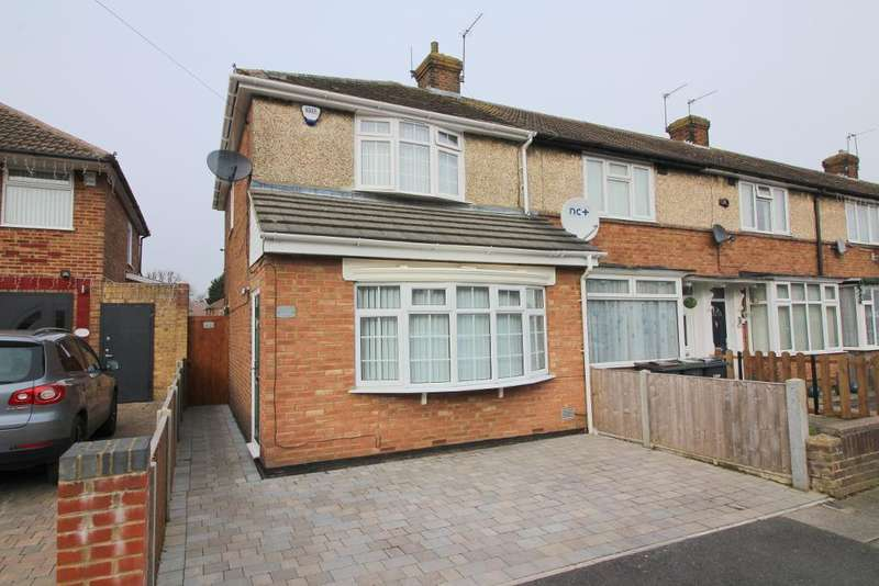 2 Bedrooms End Of Terrace House for sale in Chesford Road, Luton, Bedfordshire, LU2 8DP