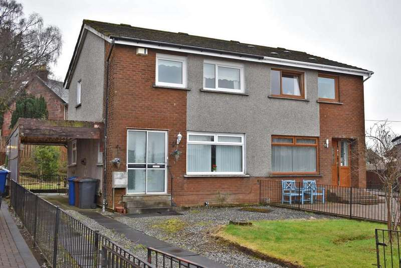 3 Bedrooms Semi Detached House for sale in 12 First Avenue, Bonhill, G83 9AU