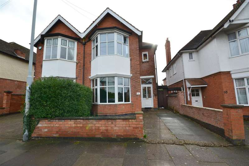 4 Bedrooms Semi Detached House for sale in Holmfield Road, Leicester