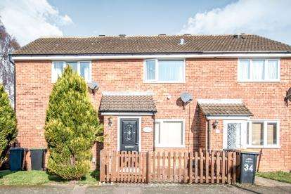 2 Bedrooms Terraced House for sale in Gulliver Close, Kempston, Bedford, Bedfordshire