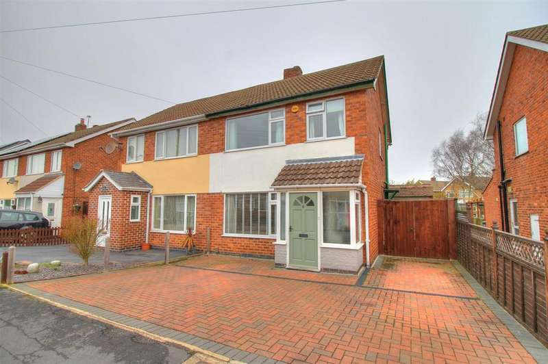 3 Bedrooms Semi Detached House for sale in Stainsdale Green, Whitwick, Coalville