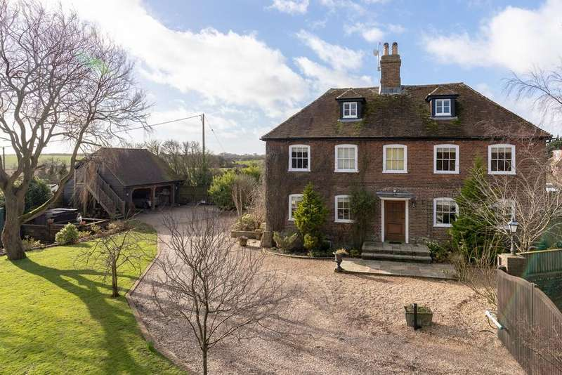 5 Bedrooms Detached House for sale in Crooks Court Lane, West Hougham, Dover, CT15