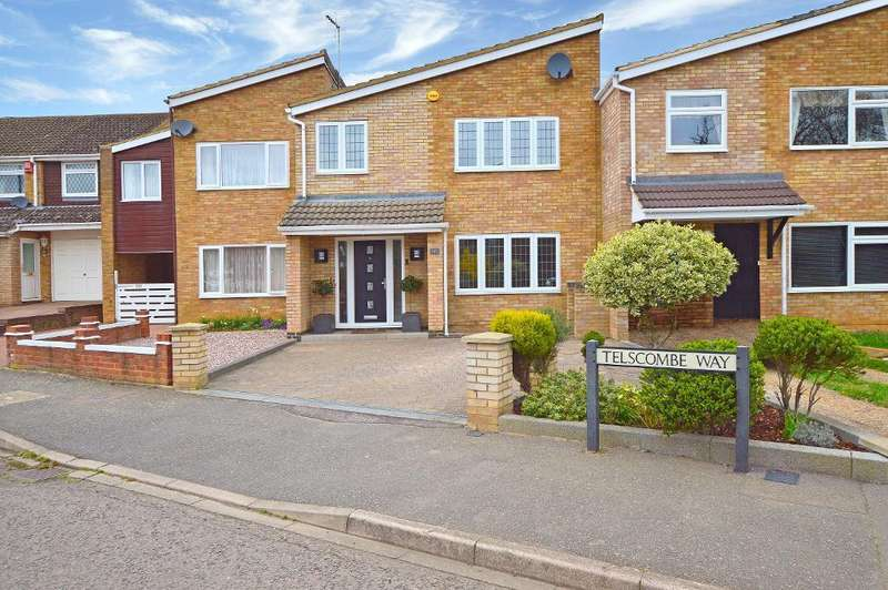 4 Bedrooms Terraced House for sale in Telscombe Way, Stopsley, Luton, LU2 8QP