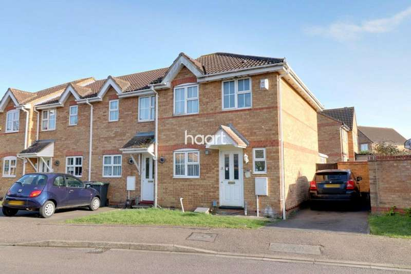 3 Bedrooms End Of Terrace House for sale in Berwick Way, SANDY