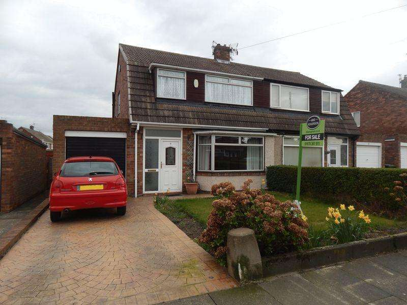 3 Bedrooms Semi Detached House for sale in Swaledale Avenue, The Leeches, Blyth Northumberland
