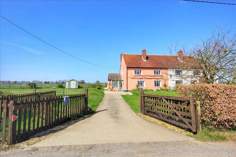 3 Bedrooms Semi Detached House for sale in Lower Farm Cottages, Yeldham Road, Belchamp Walter