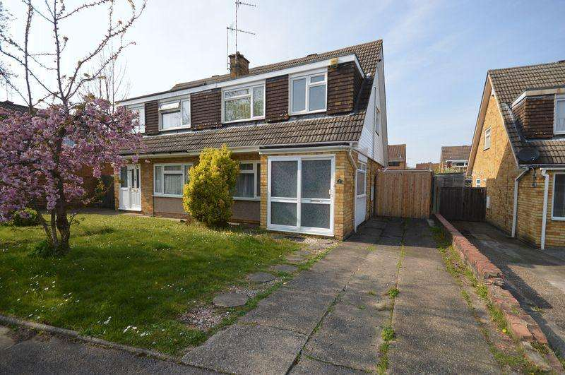 3 Bedrooms Semi Detached House for sale in Trimley Close, Luton