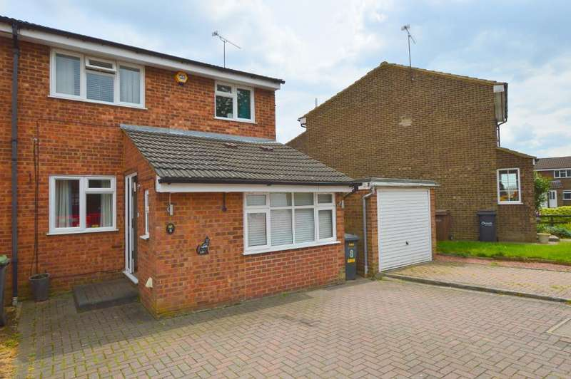 3 Bedrooms Semi Detached House for sale in Wolston Close, Farley Hill, Luton, Bedfordshire, LU1 5SS
