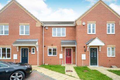 2 Bedrooms Terraced House for sale in Jubilee Close, Cherry Willingham, Lincoln, Lincolnshire