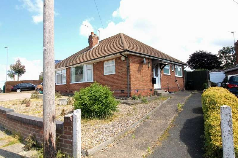 2 Bedrooms Semi Detached Bungalow for sale in Winslow Drive, Wigston, Leicester