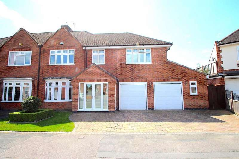 4 Bedrooms Semi Detached House for sale in Stafford Leys, Leicester Forest East