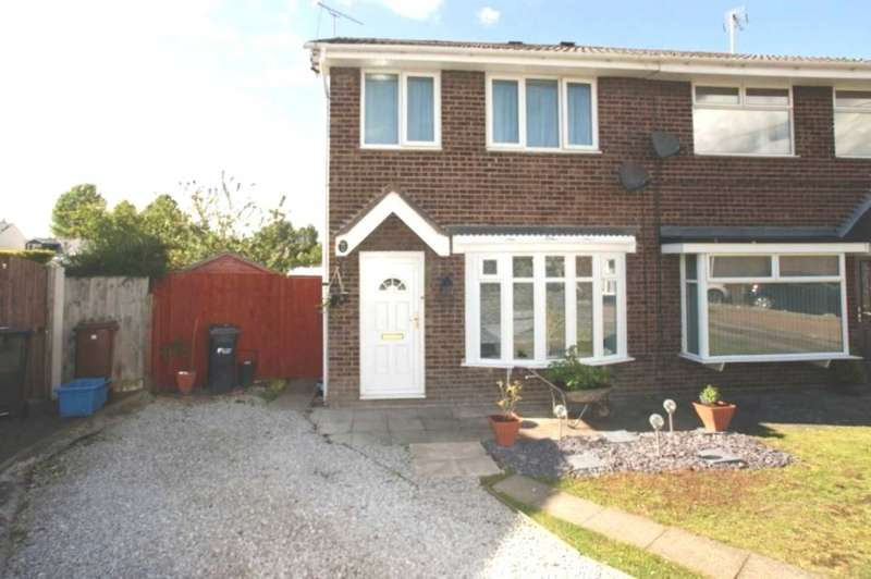 3 Bedrooms Semi Detached House for sale in Bartlet Close, Garden City, Deeside, Flintshire, CH5 2SS.