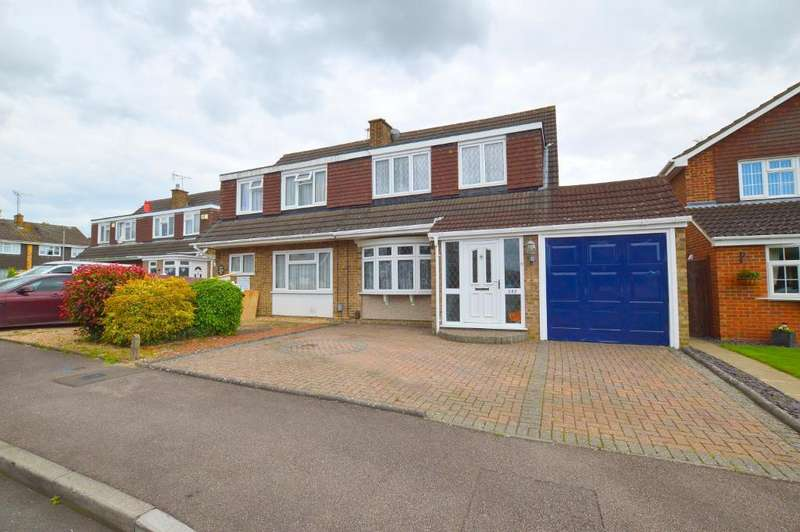 3 Bedrooms Semi Detached House for sale in Turnpike Drive, Warden Hills, Luton, Bedfordshire, LU3 3RQ