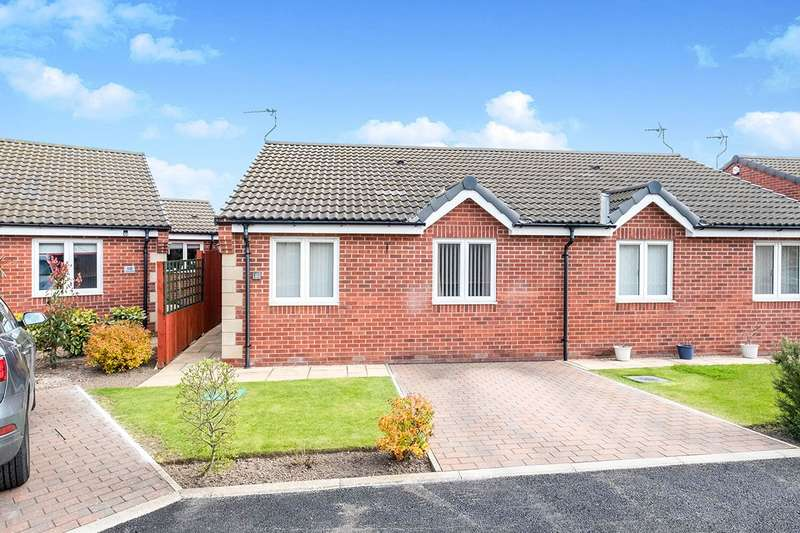 2 Bedrooms Semi Detached Bungalow for sale in Station Way, Laughton Common,Dinnington, Sheffield, S25