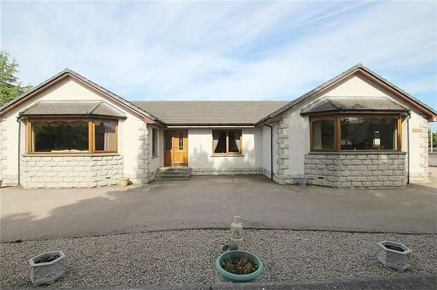 4 Bedrooms Detached Bungalow for sale in Moss Road, Aberchirder, Huntly, Aberdeenshire
