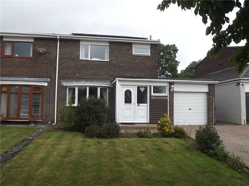 3 Bedrooms Semi Detached House for rent in Norburn Park, Witton Gilbert, Durham, DH7